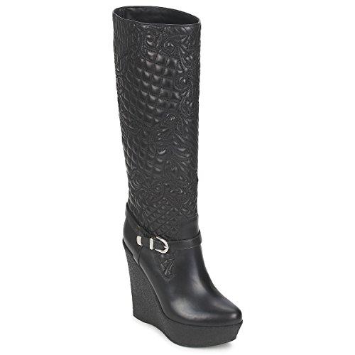 Versace Dsl909r Stiefel Damen Schwarz - 39 - Klassische Stiefel Shoes
