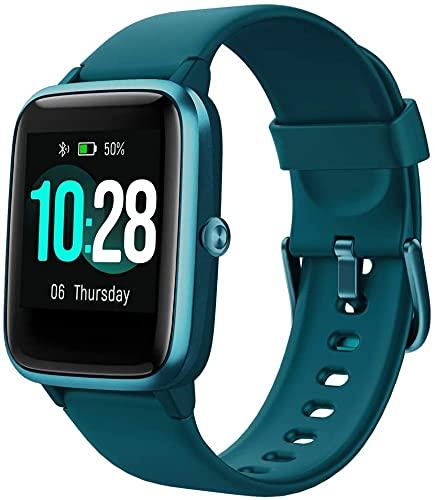 Reloj inteligente, reloj inteligente con pantalla táctil de 1,3 pulgadas, rastreador de actividad con monitor de frecuencia cardíaca, resistente al agua IP68, podómetro, cronómetro
