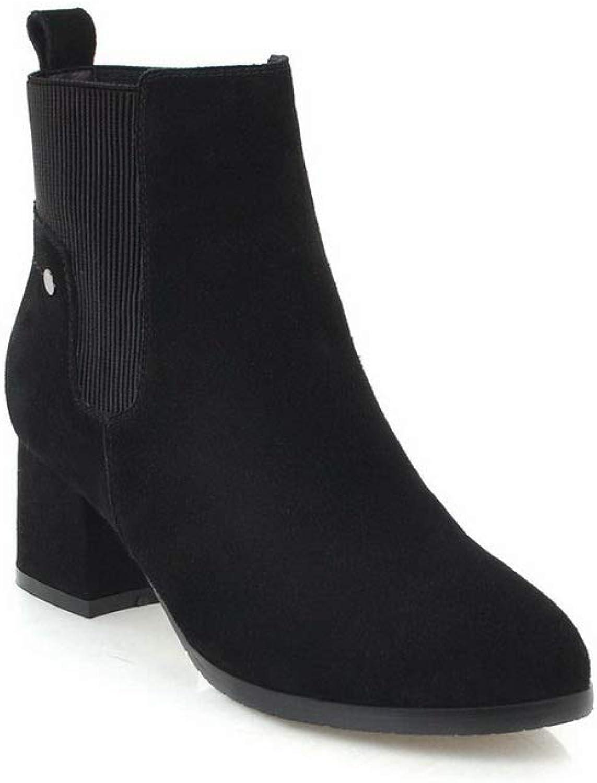 AdeeSu Womens Warm Lining Solid Nubuck Urethane Boots SXE03962
