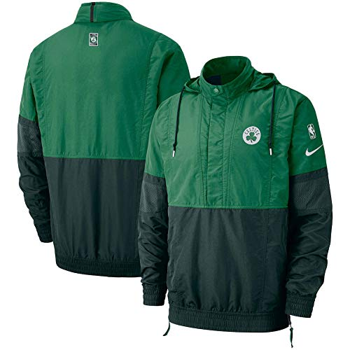 Nike New Boston Celtics Courtside Retro Hooded Pullover Jacket Green Size M