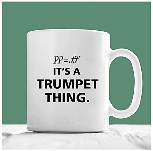 N\A Trompete Becher, es ist eine Trompete Sache, Trompete Kaffeetasse, Weihnachten Trompete Geschenk, Trompetenspieler Geschenke, Geschenke für Trompete Spieler, Musici