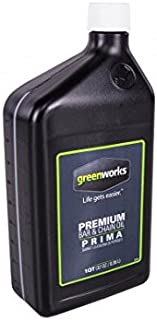 Greenworks Premium Bar and Chain Oil – Quart, GWBC0