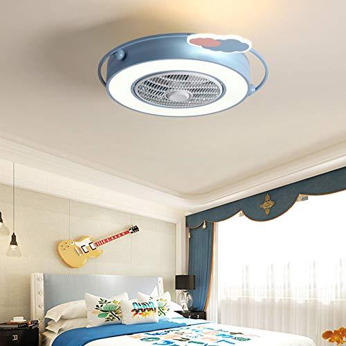 Ventilator Aan Het Plafond Met Verlichting 46W Ultra-Quie Children's Fan Lamp Met Verstelbare Wind Speed Dimbare Afstandsbediening Voor De Slaapkamer Lamp Jongens Meisjes,C