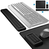 MROCO 3-in-One Keyboard Wrist Rest, Memory Foam Wrist Pad for Keyboard, Mouse Wrist Rest, Large Gaming Mouse Pad, Ergonomic Sets for Easy Typing and Pain Relief for Computer, Laptop, Office & Home