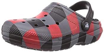 Crocs Men s and Women s Classic Lined Clog | Fuzzy Slippers Buffalo Plaid 8 Women / 6 Men
