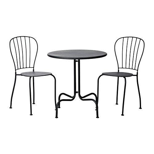 Tavolo LÄCKÖ IKEA di alta qualità+2 sedie, da esterno, grigio