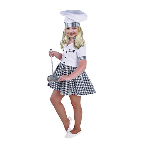 Disfraz Cocinera niña Infantil (5-6 años) (+ Tallas) Carnaval Profesiones
