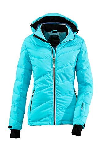 Killtec Damen Ocisa Skijacke In Daunenoptik Mit Abzippbarer Kapuze Und Schneefang, 10.000 Mm Wassersäule, Aqua, 46