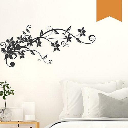 WANDKINGS Wandtattoo - Blumenranke Sophie - 50 x 22 cm - Hellbraun - Wähle aus 5 Größen & 35 Farben
