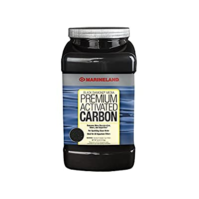 MarineLand Diamond Media Premium Activated Carbon, Blacks & Grays, 40-Ounce (PA0373)