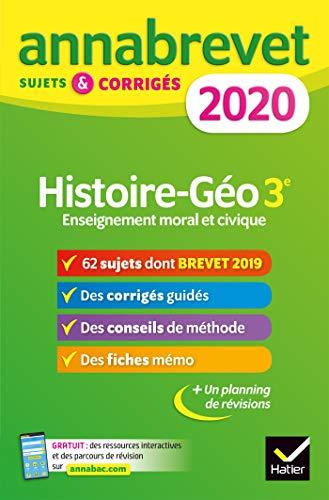 Annales du brevet Annabrevet 2020 Histoire Géographie EMC 3e