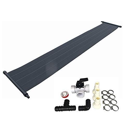 well2wellness® Eco Solar Set Pool Solarmatte Solarheizung 'Power' 6,0 x 0,8 m Plus 15-teiliges Bypass-Set