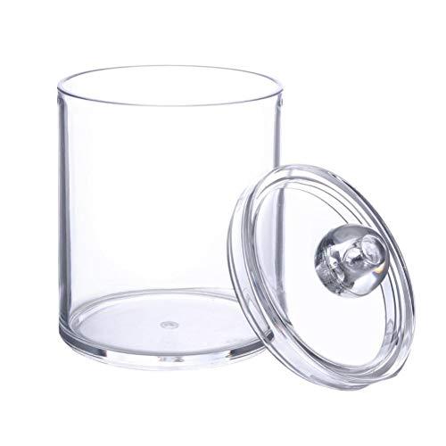 Beito Coton Pad titulaire 1PC qtip porte distributeur salle de bain clair pot pour les boules de coton, coton écouvillons, Q-Tips, tampons de maquillage stockage (Qtip Titulaire)