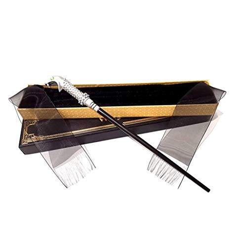 MUZILIZIYU Longitud 37cm Harry Potter Varita con Caja incorporada Metal Core Magic Wand Pelcula Props Barmes Wands Harry Potter Pelcula Pelcula Pelcula