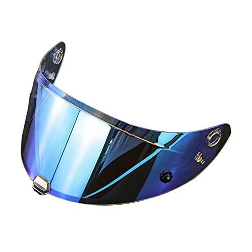 MagiDeal Motorrad Visier für HJ-26 RPHA11 RPHA70 geeignet Motorradhelm- Revo blau