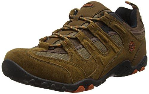 Hi-Tec Quadra Classic O005551 Herren Trekking- und Wanderhalbschuhe, brown (smokey brown/burnt orange), 45 EU