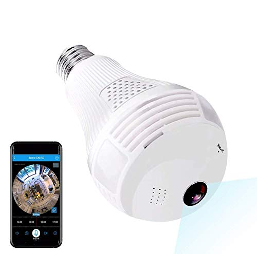 Camera, 1080P WiFi Security Camera, 2mp Wireles IP Led Cam,360 Degrees Panoramic vr Home Surveillance Cameras, Motion Detection/Night Vision/Alarm