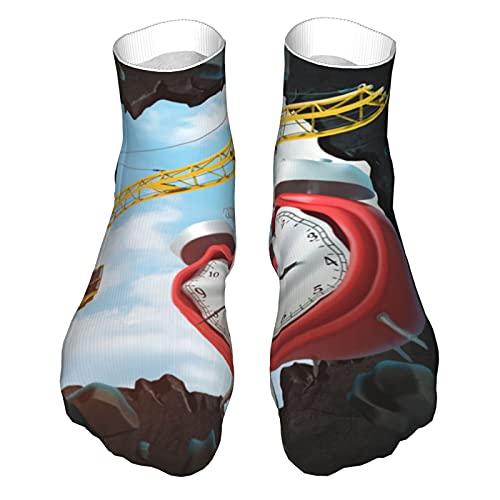 Transpirable Caual Crew Calcetines de elevación grúa que lleva roto reloj despertador cómodo al aire libre senderismo senderismo senderismo senderismo caminar calcetines atléticos