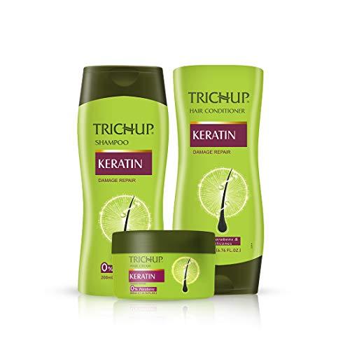 Trichup Keratin Kit (Shampoo 200 ml, Conditioner 200 ml, Hair Cream 200 ml)