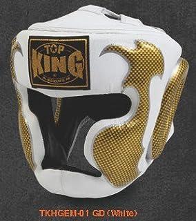 トップキング TOP KING キックボクシング ヘッドギア タトゥ 白金 Sサイズ