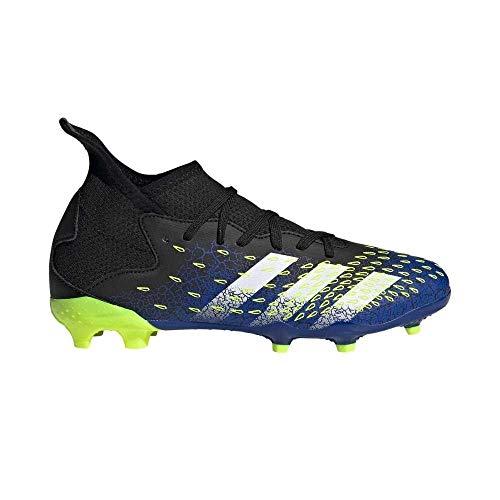 adidas Predator Freak .3 FG J, Zapatillas de fútbol, NEGBÁS/FTWBLA/Amasol, 33 EU