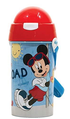 Botella de agua plastica de 500ml con boquilla de silicona