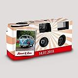 Hochzeitskamera Einwegkamera Strahlen rot mit Bild-Text-Personalisierung, ISO 400, 27 Aufnahmen, Blitz