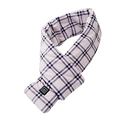 HWTOP USB beheizter Schal mit 3 Einstellungen einstellbare Temperatur und Powerbank, beheizter Schal für Männer Frauen Camping Wandern Skifahren Weihnachten Valentinstag, waschbar