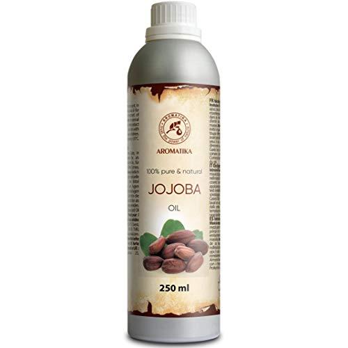 Olio di Jojoba 250ml - Simmondsia Chinensis Seed Oil - Argentina - Oli di jojoba 100% naturali e puri - i migliori benefici per i capelli - Pelle - Vi