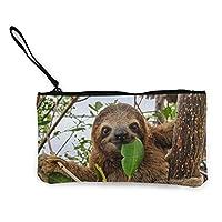財布 かわいい面白い赤ちゃん茶色つま先ナマケモノ 小銭入れ 収納 大容量 おしゃれ ファスナー 財布 メンズ レディース