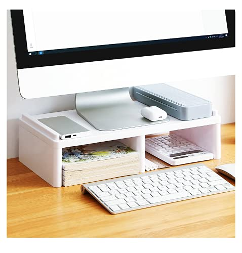 Soporte de monitor, se puede utilizar para artículos de almacenamiento de oficina, aumentar el estante del ordenador portátil, adecuado para la oficina y el hogar.