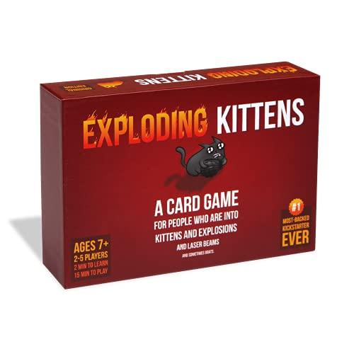 Asmodee EKG-ORG1-1 Explodierendes Kätzchenkartenspiel – Familienfreundliche Partyspiele – Kartenspiele für Erwachsene, Jugendliche und Kinder, Englische Version