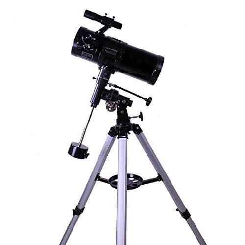 Praktisches Teleskop Refraktorteleskop Praktisches Teleskop Manuelle Äquatorialmontageteleskope für Erwachsene Kompakt und Tragbar, 500-Fach, Schwarz, TSJ