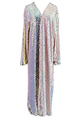 Rose Gold Sequin Rave Long Sequin Duster