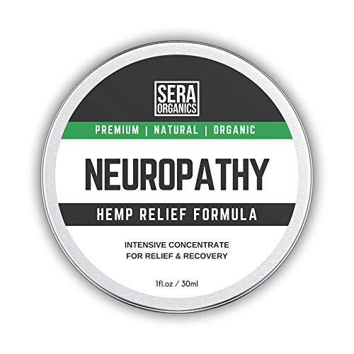 Neuropathy Nerve Pain Relief Turmeric & Hemp Oil Formula Rich in Natural Extracts by Sera Organics. Soothe Feet, Knees, Back, Shoulders Balm Suitable for Diabetics