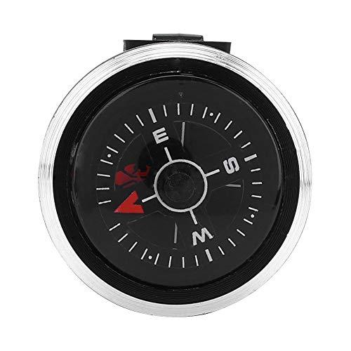 Brújula de reloj portátil, aleación de aluminio de compás de campamento, ABS para supervivencia Camping Senderismo Boating (Negro)