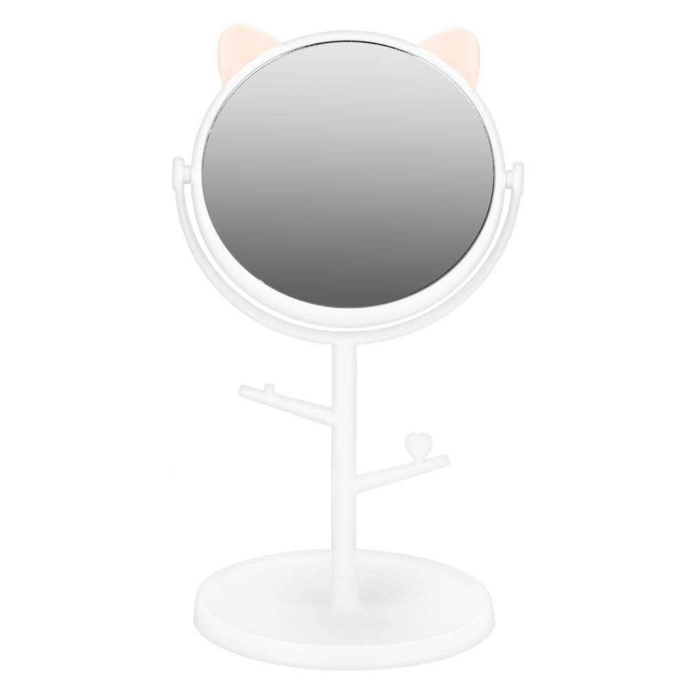 Cat-Ear-Shape Cosmetic High outlet quality new Mirror Desktop Makeup Vanity with
