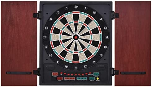 Soozier Electronic Dartboard Set 27 Games and 202 Variations with 12 Darts and Cabinet to Storage product image