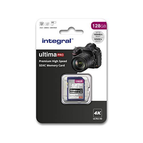 Integral SD-Karte 256 GB, Premium 4K, SDXC Schnellspeicherkarte bis zu 100 MB/s, V30, UHS-I, U3 128 GB 128 GB