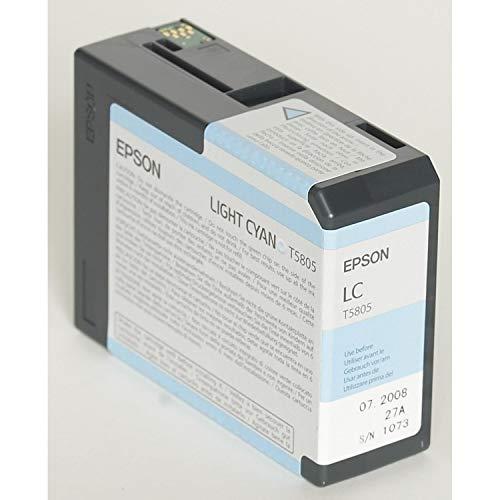 Epson T5805 - Cartucho de tinta para impresora 3800/3880, color cian claro,...