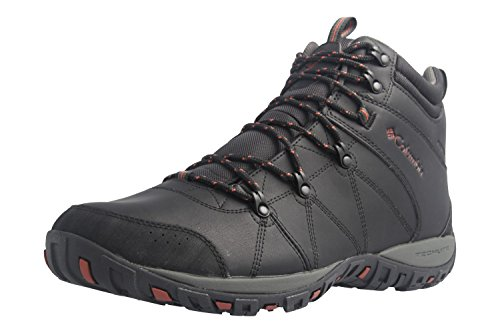 Columbia Men's Peakfreak Venture MID Waterproof Omni-Heat Hiking Boot, Black, Sanguine, 10.5 D US