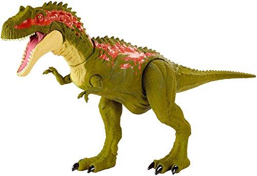 Jurassic World Méga Morsures grande figurine dinosaure articulé Albertosaurus, jouet pour enfant, GVG67
