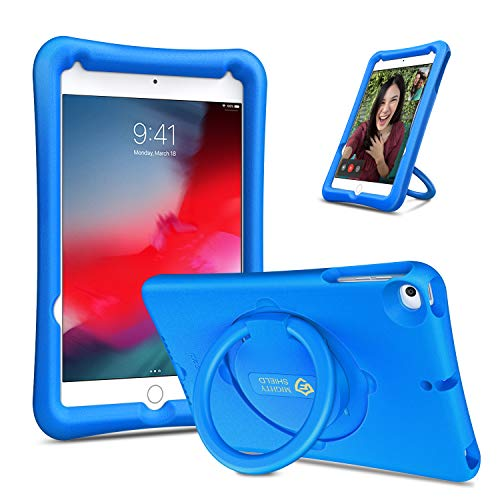 Fintie Case for iPad Mini 5 2019 / iPad Mini 4, [Magic Ring] 360 Rotating Multi-Functional Grip Stand Shockproof Full-Body Rugged Protective Cover for 7.9' New iPad Mini 5 / iPad Mini 4, Blue