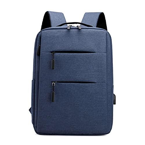Sottile Zaino Del Computer Portatile Business Viaggio Notebook Bag Con Usb Grande Capacità Daypack Scuola Bookbag Per Uomini Donne, Blu, L
