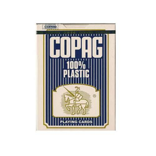 Mazzo di carte Copag 100% plastica - dorso blu - Mazzi Copag - Carte da gioco - Giochi di Prestigio e Magia