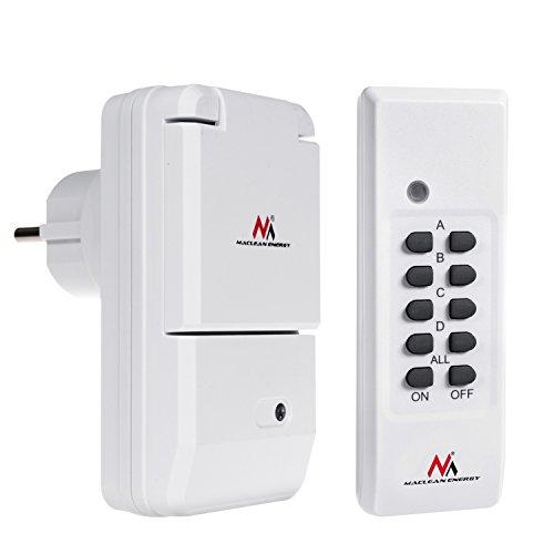 Maclean mce158–Juego de cambios–Juego de enchufe para exteriores IP44con mando a distancia Max. 3600W Color Blanco