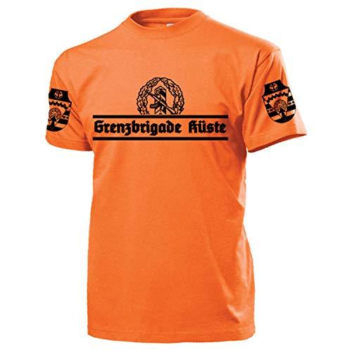 Grenzbrigade Küste GBK Veteran Typ2 DDR NVA Ostdeutschland - T Shirt #17535, Größe:XL, Farbe:Orange