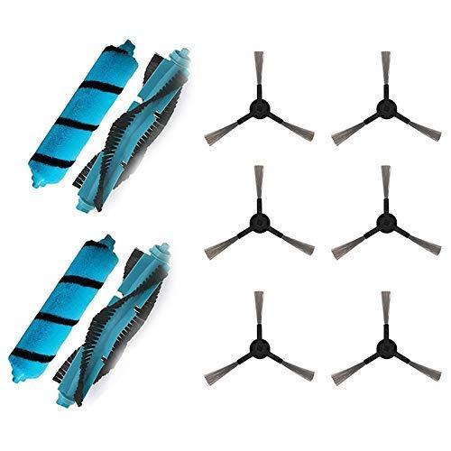 WPLHH Cepillo principal Kit de cepillo lateral para cecotec Conga 4090 Viomi V2 Pro Mijia STYJ02YM barrido Mopping robot Partes de aspirador