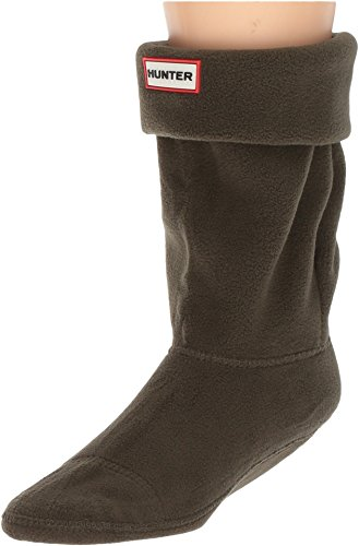 Hunter Unisex Short Boot Sock Polyfleece Dark Olive 39-42 EU