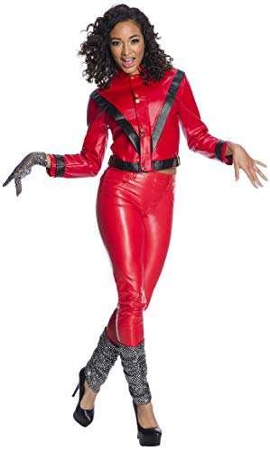 Women's Red Michael Jackson Thriller 80's Costume, Officially Licensed, XS to XL